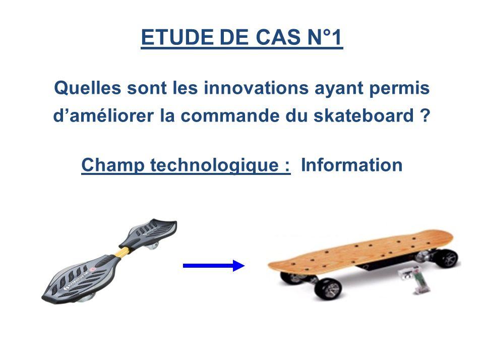 ETUDE DE CAS N°1 Quelles sont les innovations ayant permis