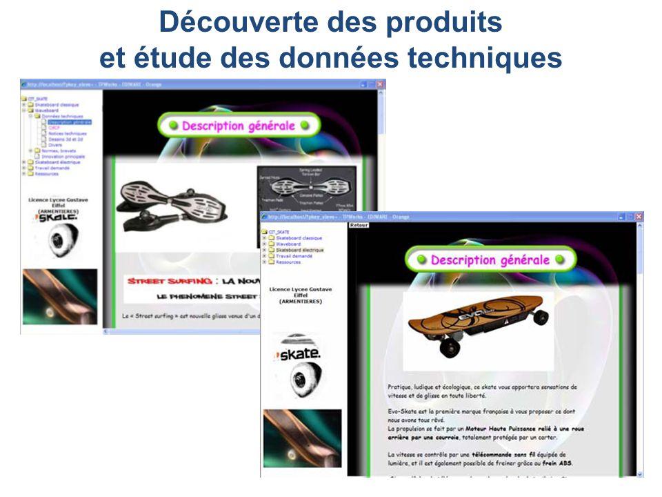 Découverte des produits et étude des données techniques