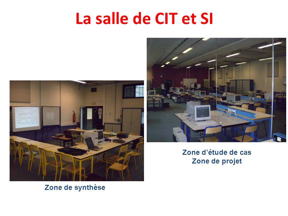 La salle de CIT et SI Zone d'étude de cas Zone de projet