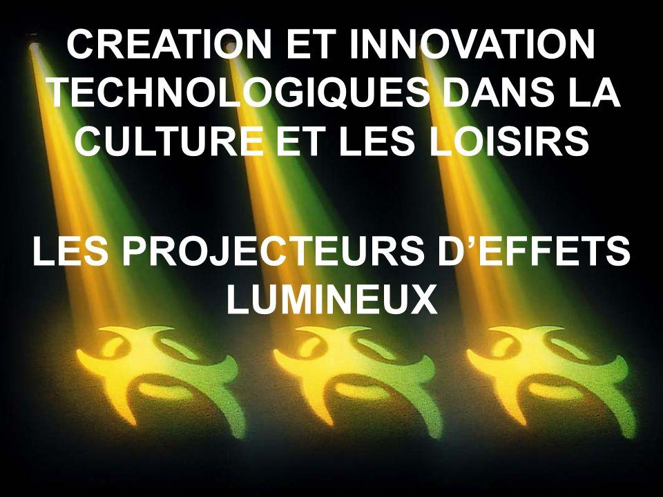CREATION ET INNOVATION TECHNOLOGIQUES DANS LA CULTURE ET LES LOISIRS
