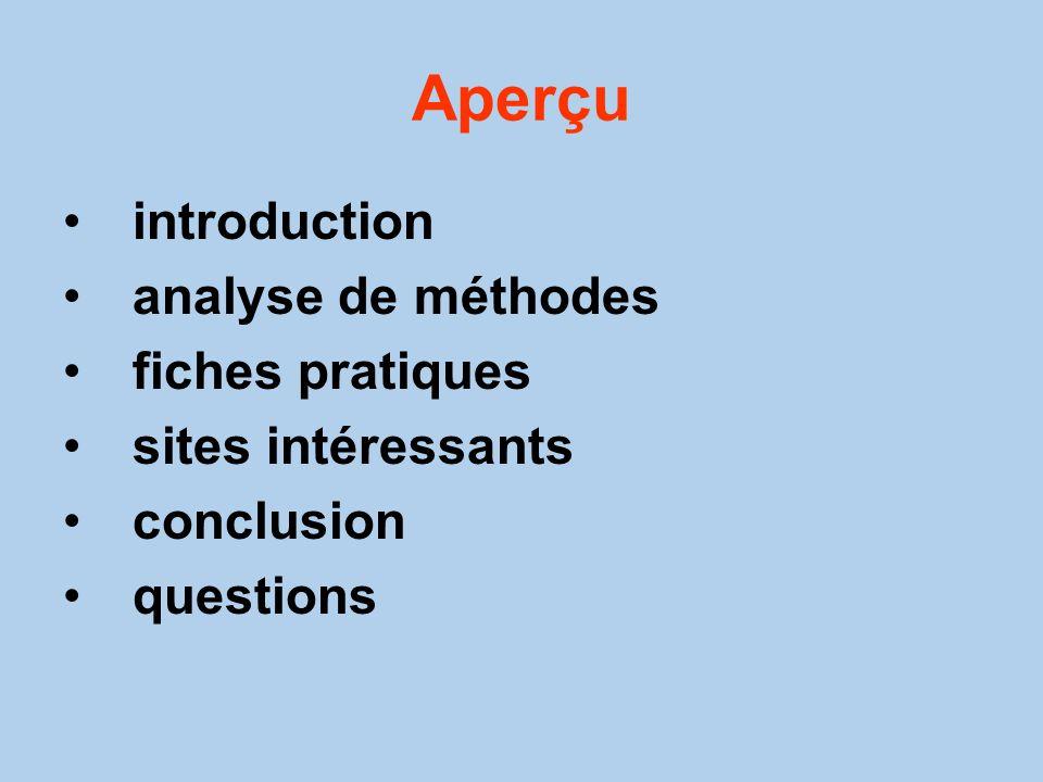 Aperçu introduction analyse de méthodes fiches pratiques