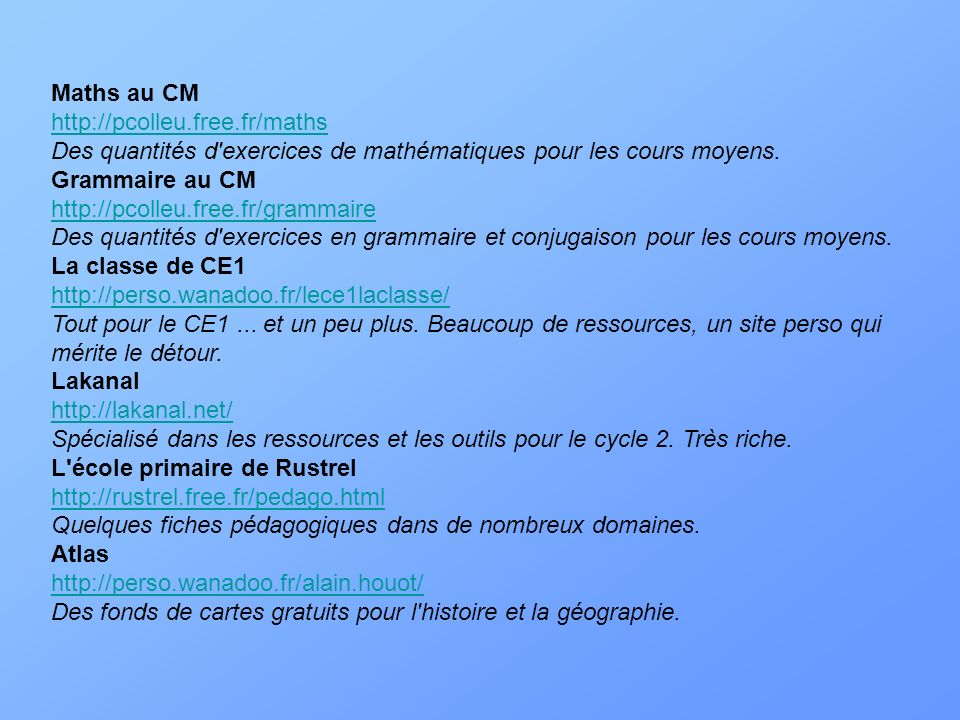 Maths au CM http://pcolleu. free