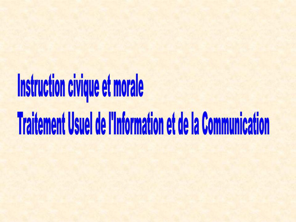 Instruction civique et morale
