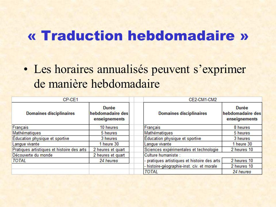 « Traduction hebdomadaire »