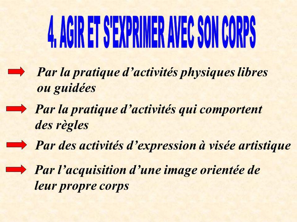 4. AGIR ET S EXPRIMER AVEC SON CORPS