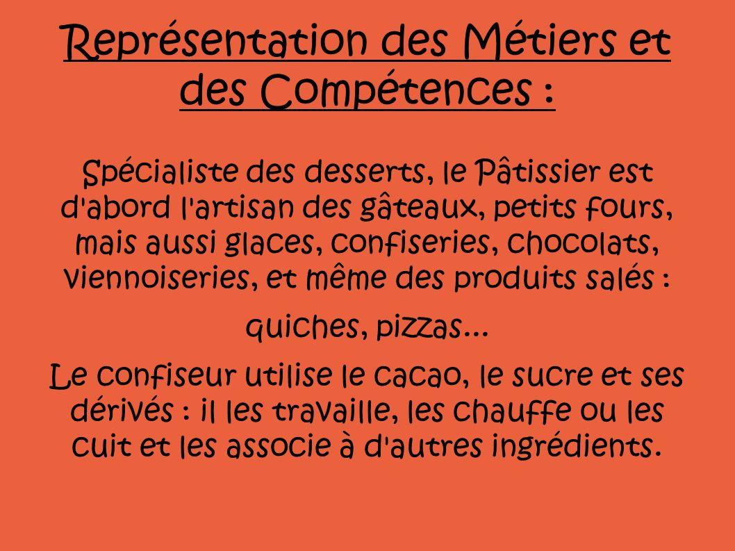 Représentation des Métiers et des Compétences :