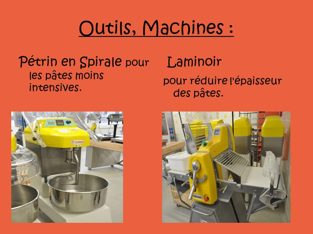 Outils, Machines : Pétrin en Spirale pour les pâtes moins intensives.