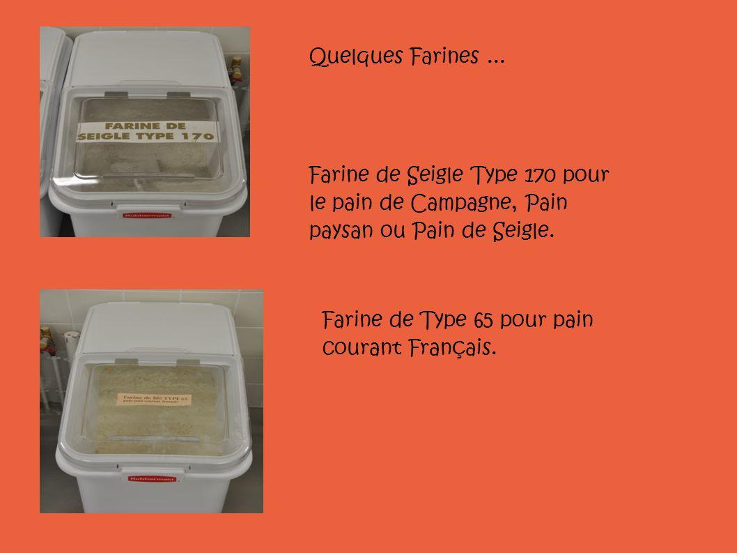 Quelques Farines ... Farine de Seigle Type 170 pour le pain de Campagne, Pain paysan ou Pain de Seigle.
