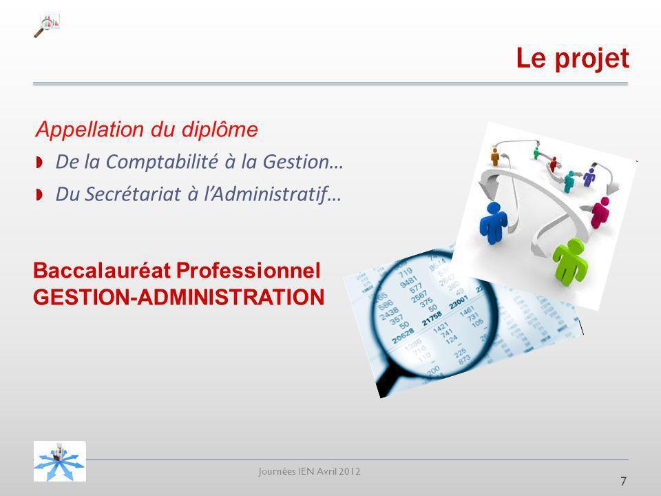 Le projet Appellation du diplôme De la Comptabilité à la Gestion…