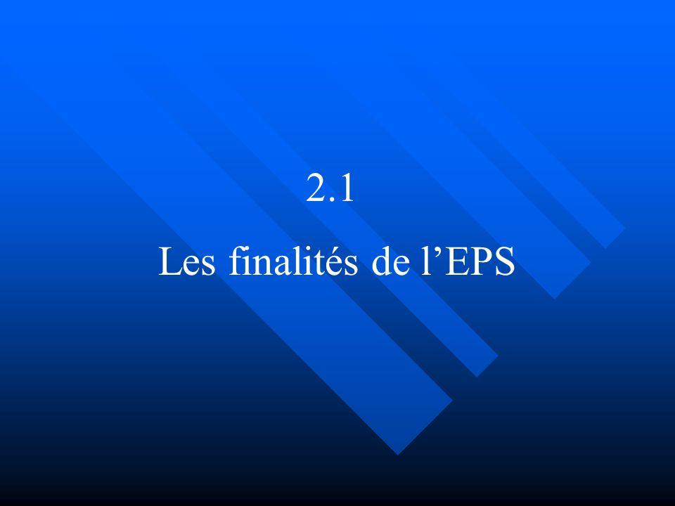 2.1 Les finalités de l'EPS