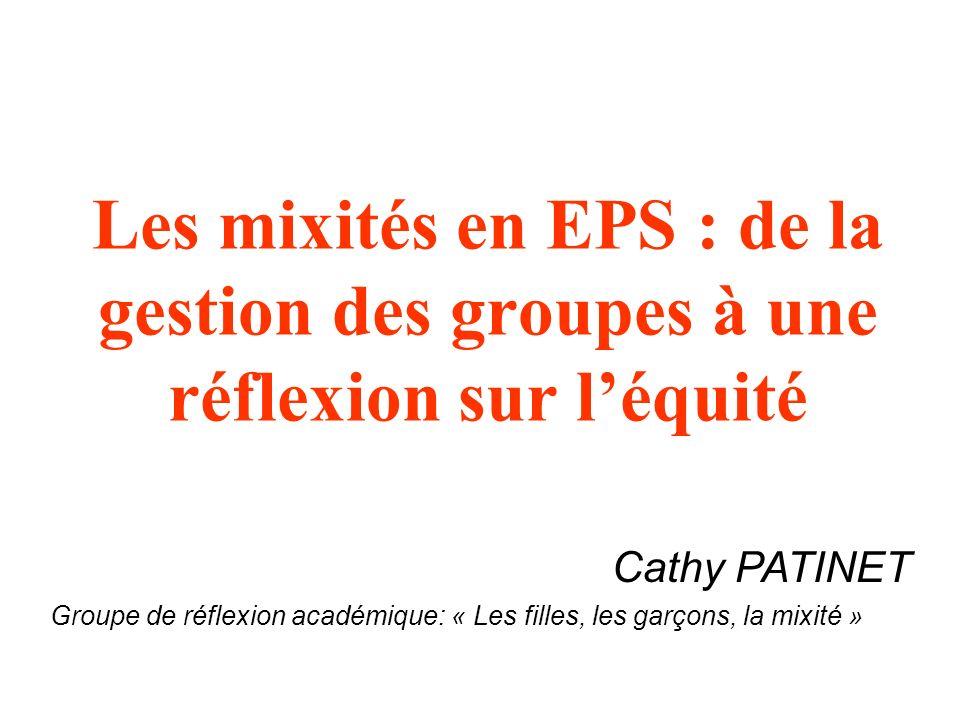 Les mixités en EPS : de la gestion des groupes à une réflexion sur l'équité