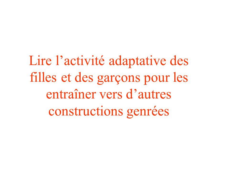 Lire l'activité adaptative des filles et des garçons pour les entraîner vers d'autres constructions genrées