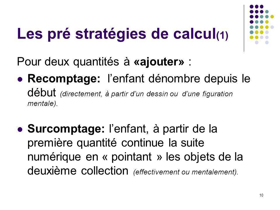 Les pré stratégies de calcul(1)