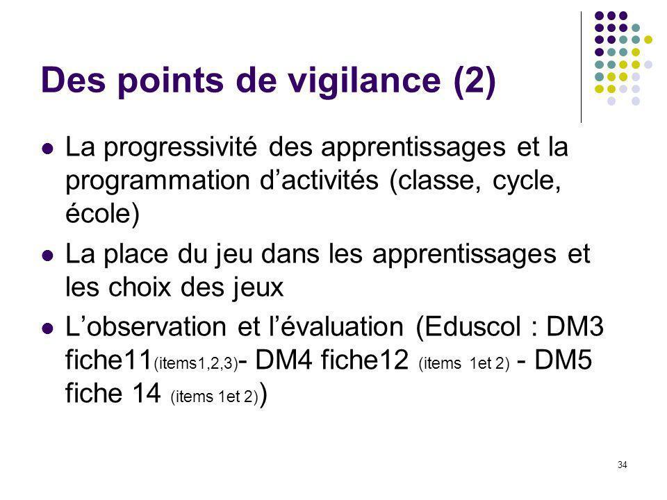 Des points de vigilance (2)