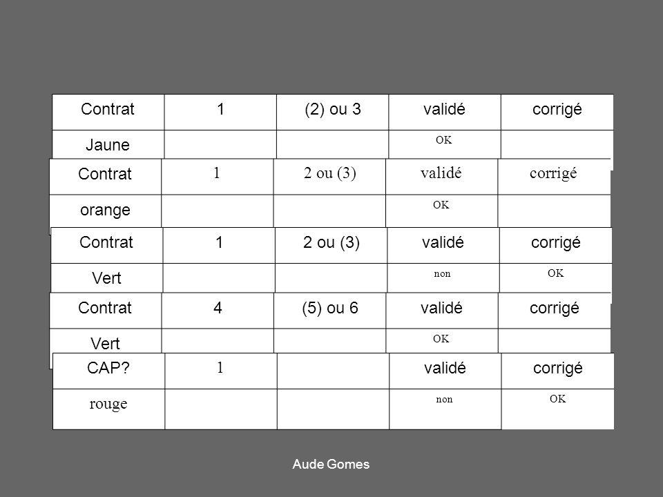 Contrat 1 (2) ou 3 validé corrigé Jaune Contrat 1 2 ou (3) validé