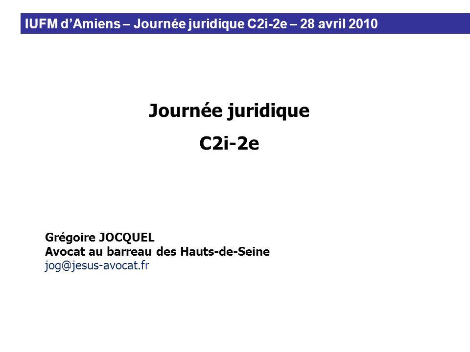 Journée juridique C2i-2e
