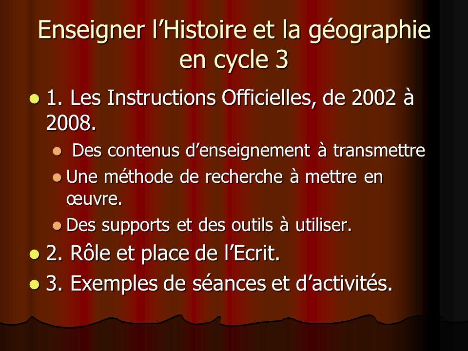 Enseigner l'Histoire et la géographie en cycle 3