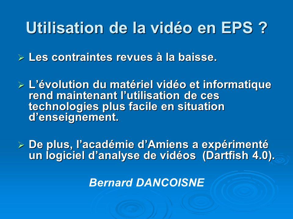 Utilisation de la vidéo en EPS