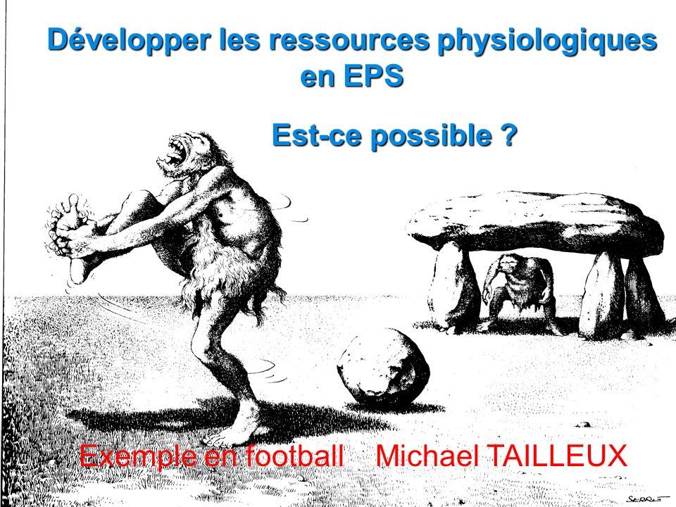 Développer les ressources physiologiques en EPS