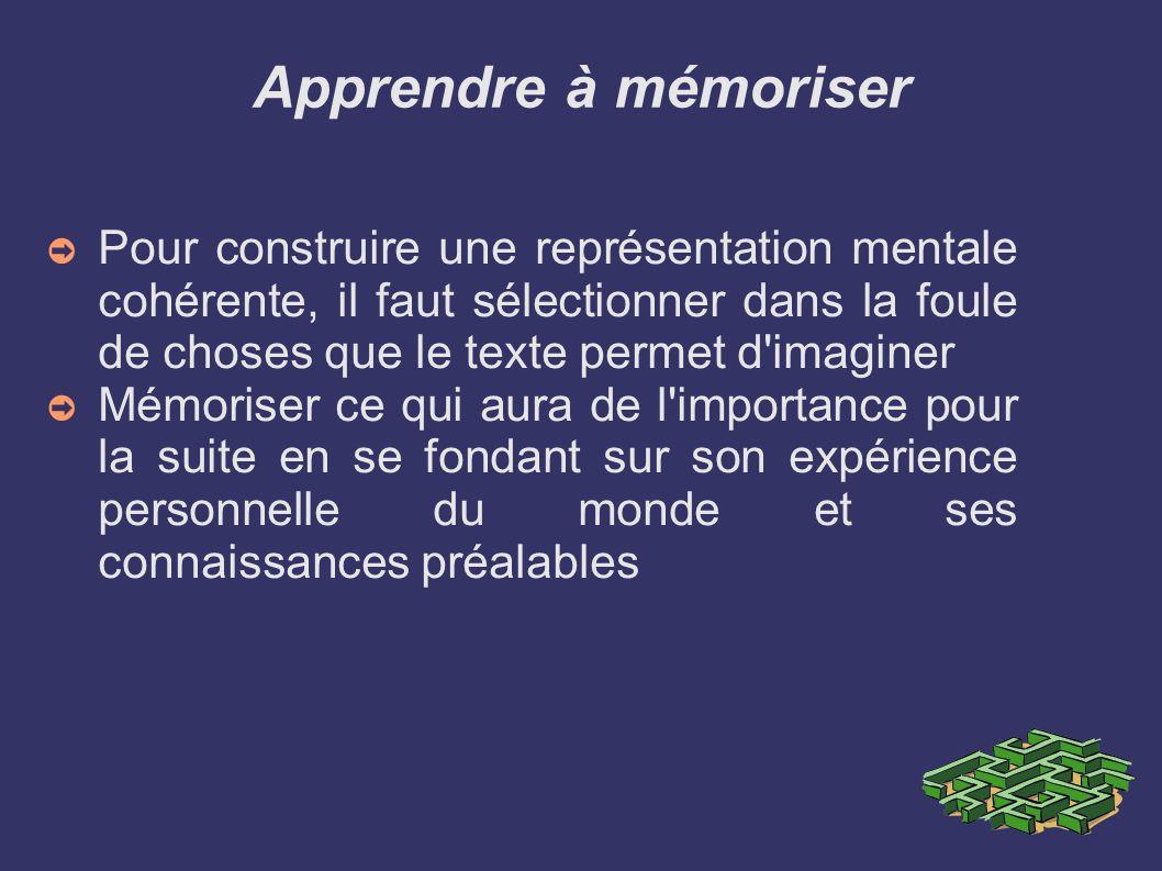 Apprendre à mémoriser