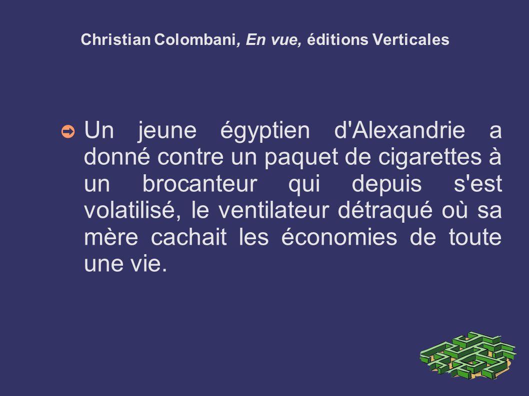 Christian Colombani, En vue, éditions Verticales