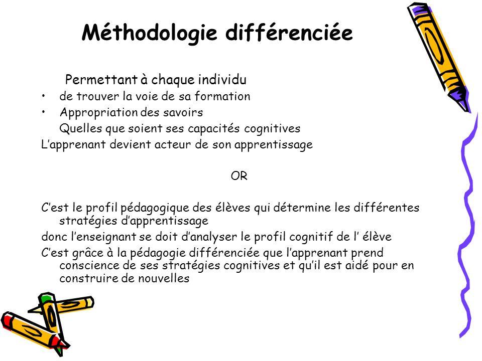 Méthodologie différenciée