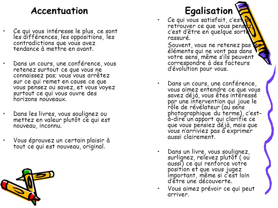 Accentuation Egalisation