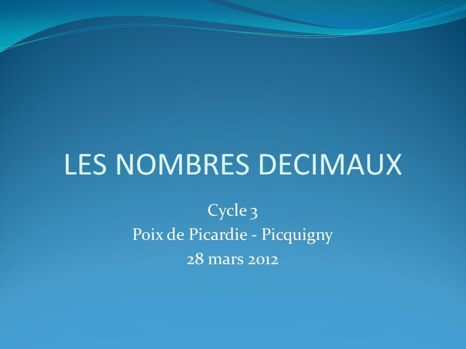Cycle 3 Poix de Picardie - Picquigny 28 mars 2012