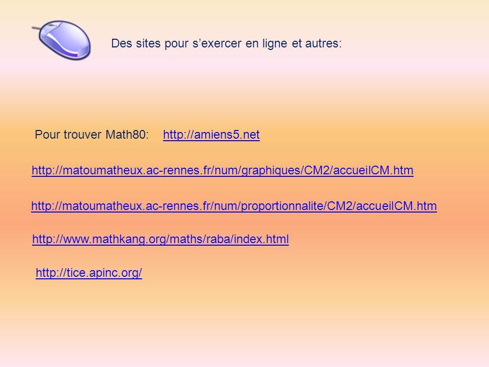 Des sites pour s'exercer en ligne et autres: