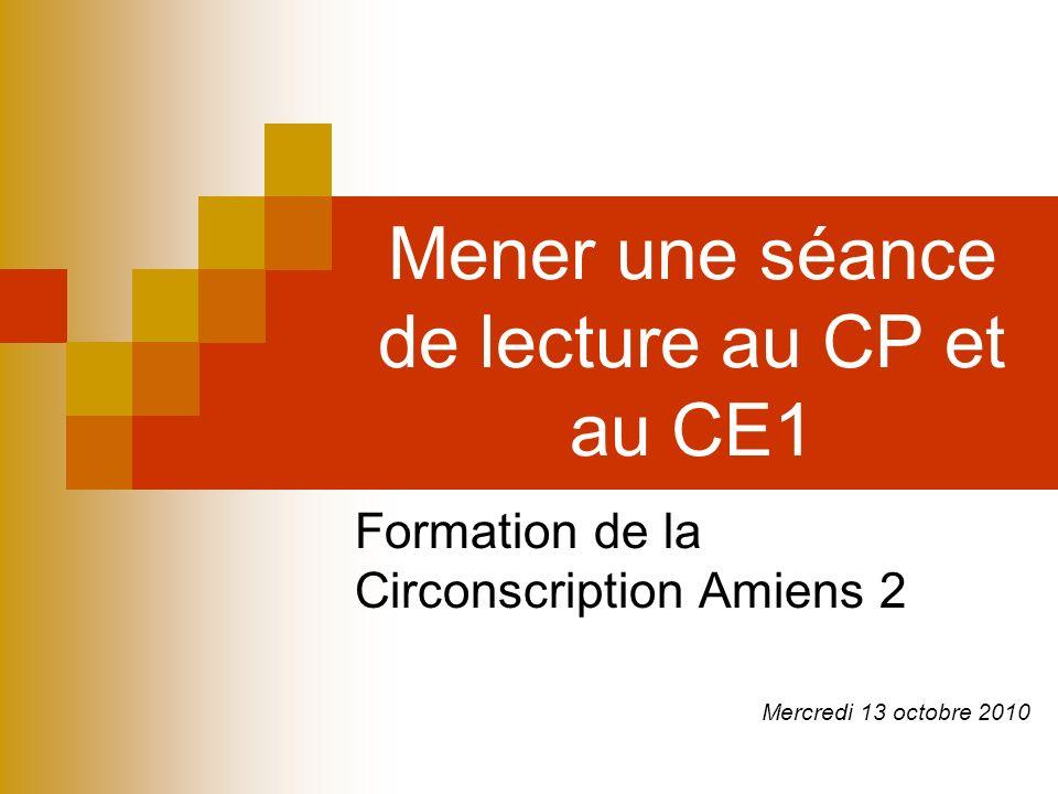 Mener une séance de lecture au CP et au CE1