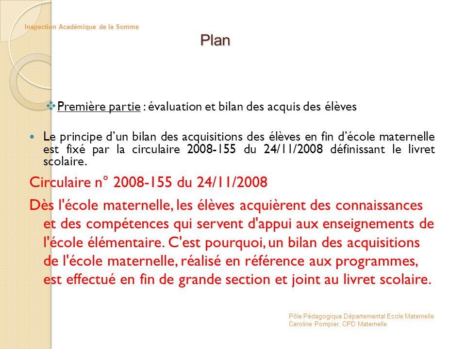 Plan Circulaire n° 2008-155 du 24/11/2008