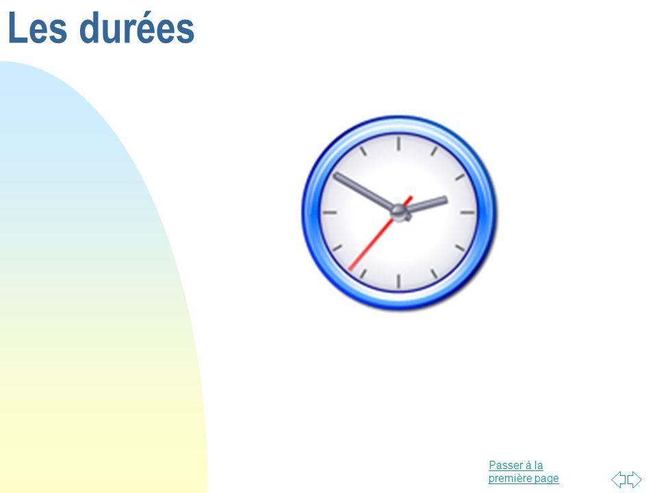 Les durées