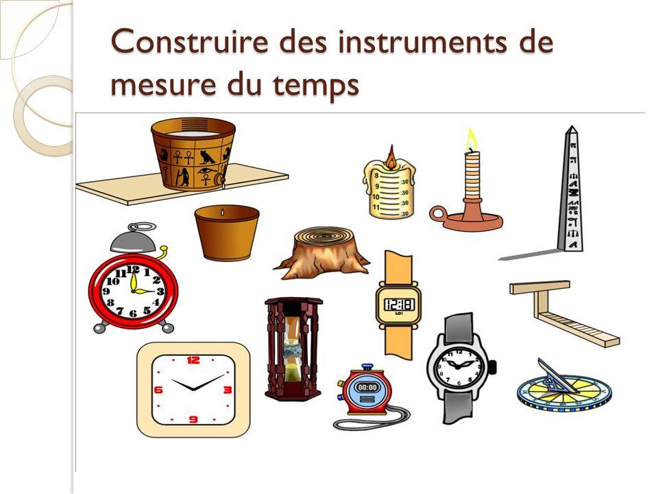 Construire des instruments de mesure du temps