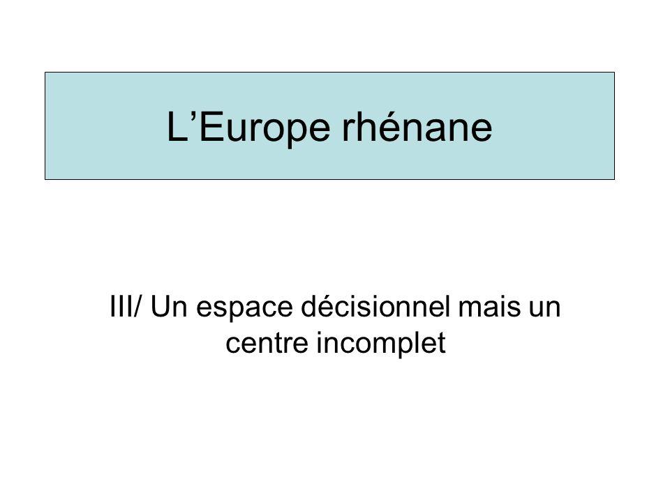 III/ Un espace décisionnel mais un centre incomplet