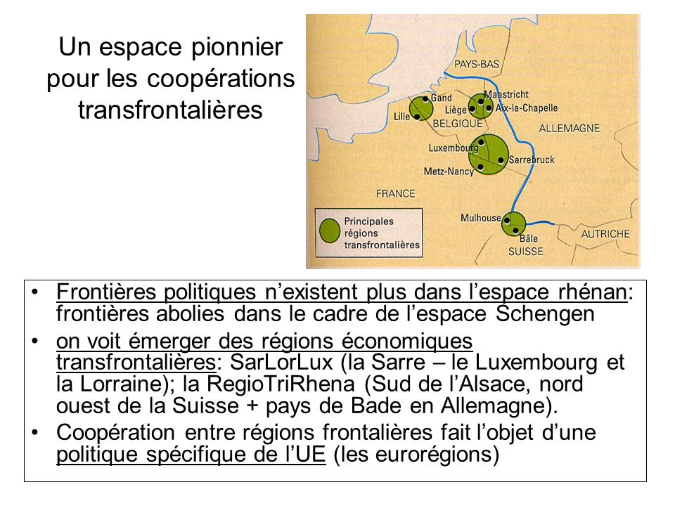 Un espace pionnier pour les coopérations transfrontalières
