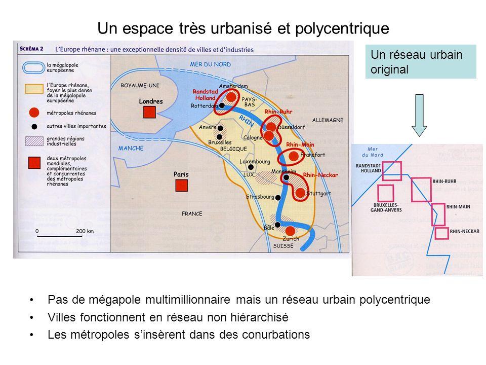 Un espace très urbanisé et polycentrique