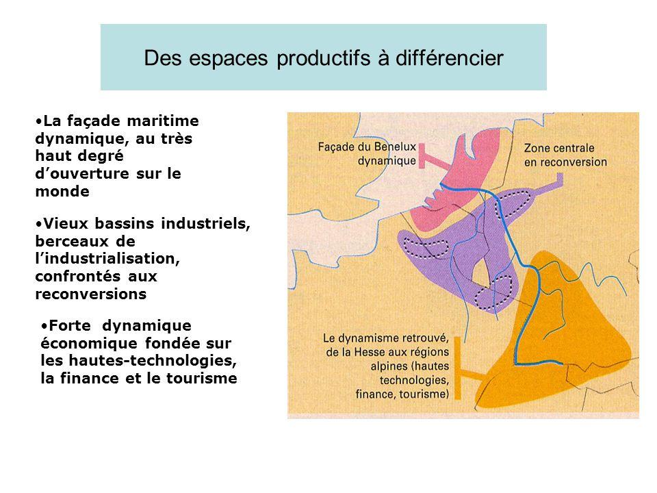 Des espaces productifs à différencier
