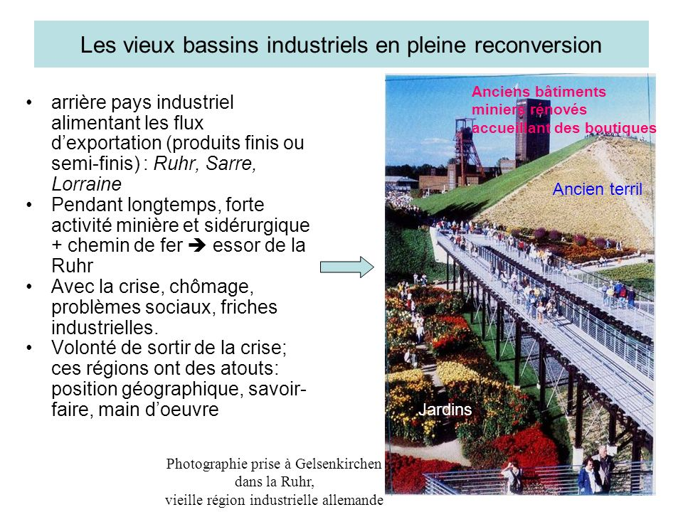 Les vieux bassins industriels en pleine reconversion