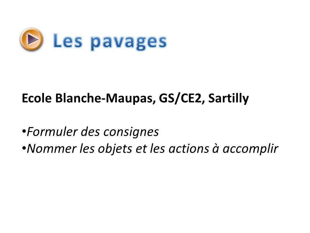 Les pavages Ecole Blanche-Maupas, GS/CE2, Sartilly