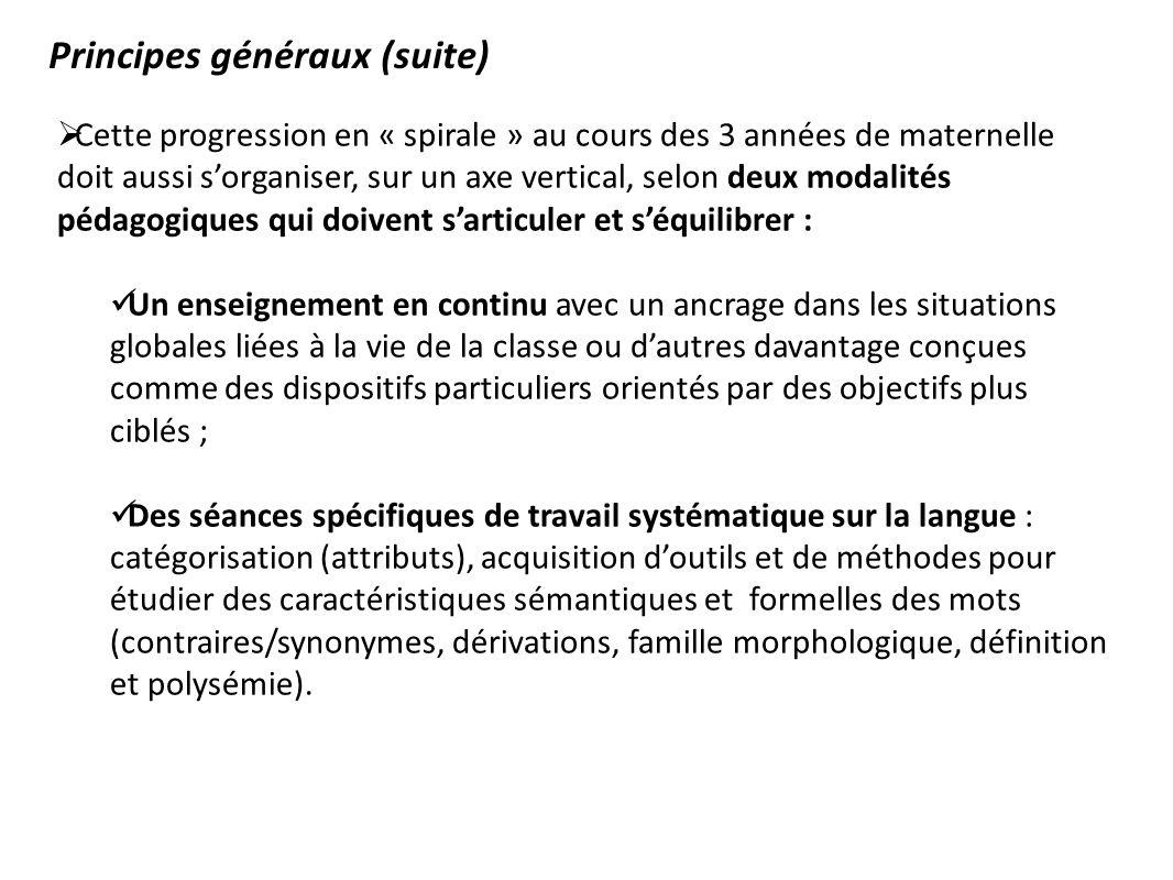 Principes généraux (suite)