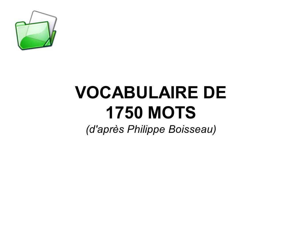 (d après Philippe Boisseau)