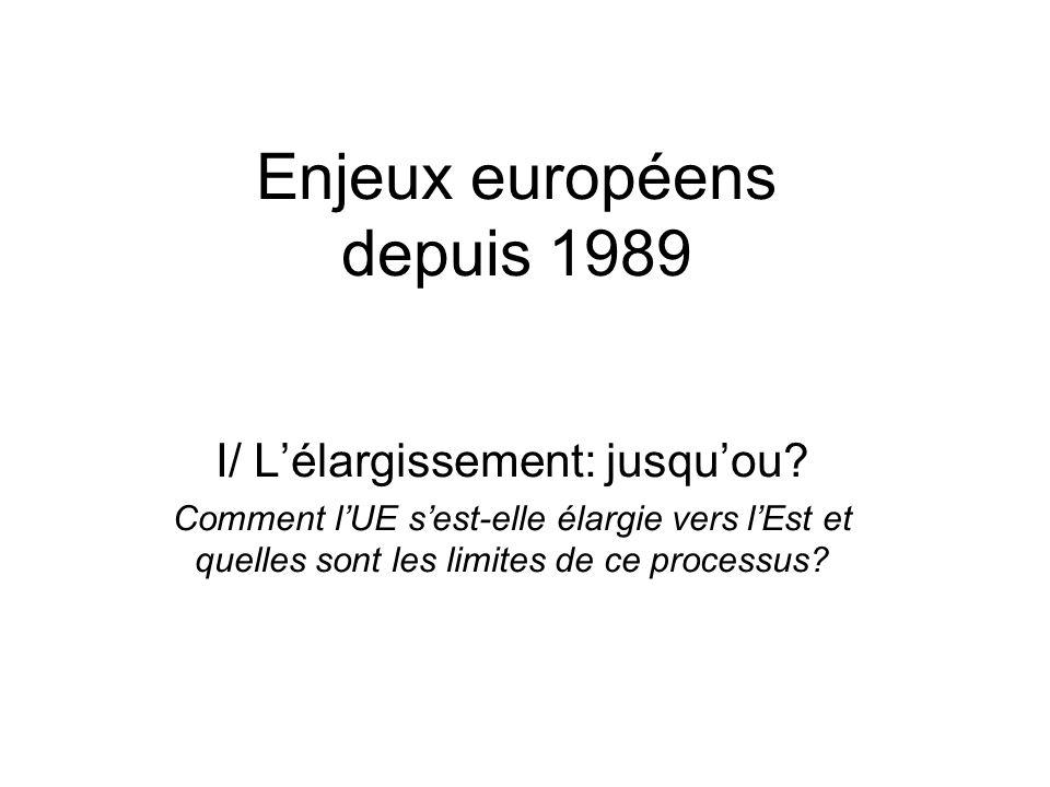 Enjeux européens depuis 1989