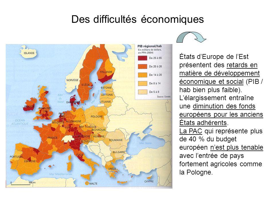 Des difficultés économiques