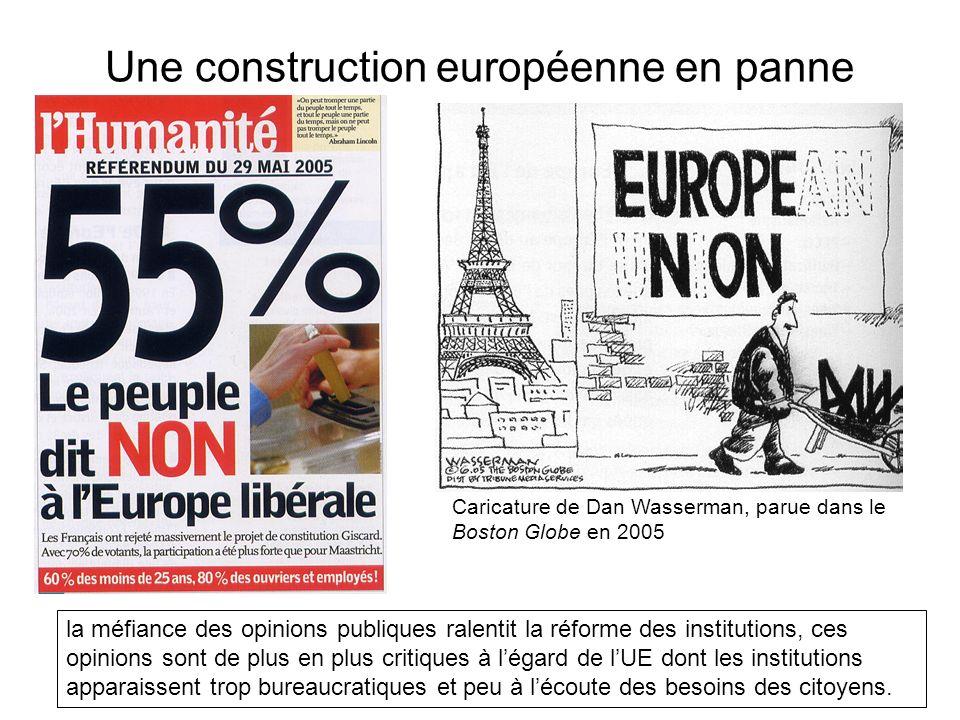 Une construction européenne en panne