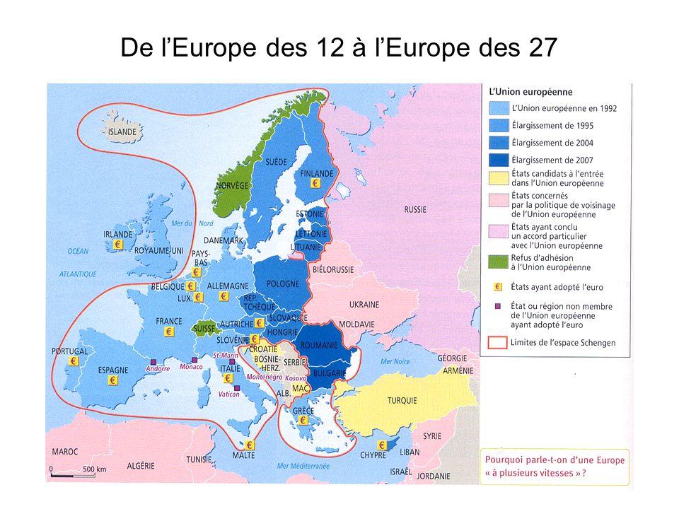 De l'Europe des 12 à l'Europe des 27