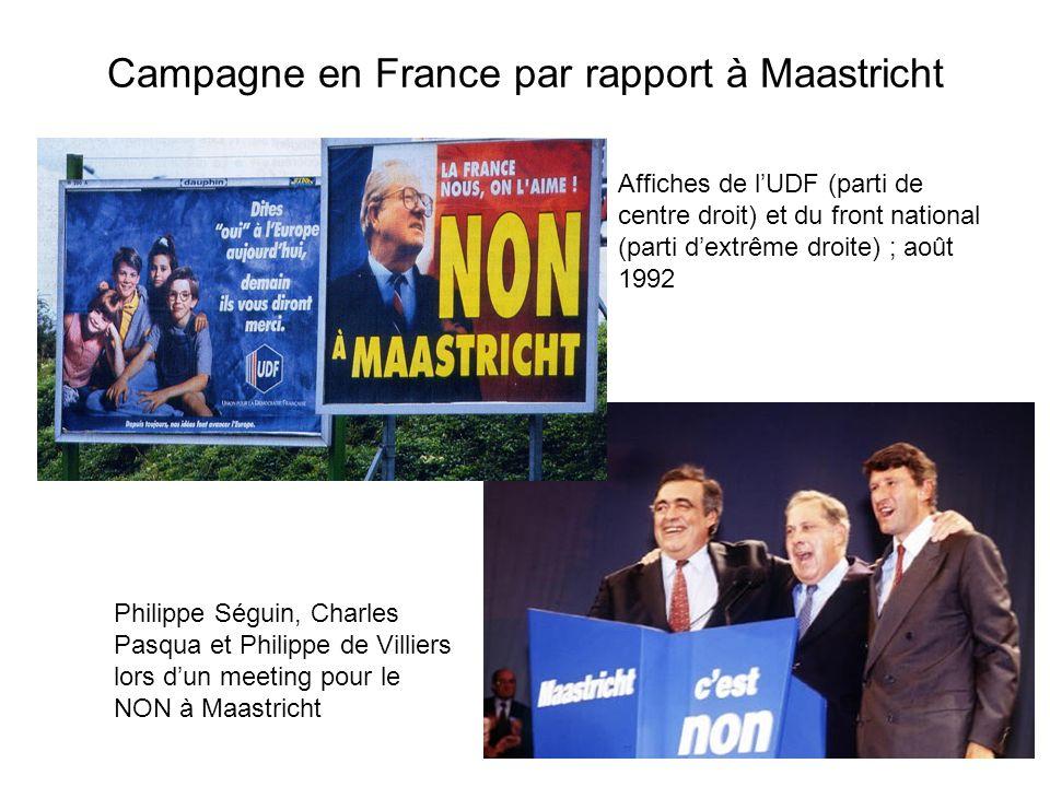 Campagne en France par rapport à Maastricht