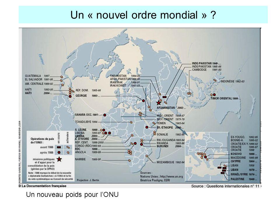 Un « nouvel ordre mondial »