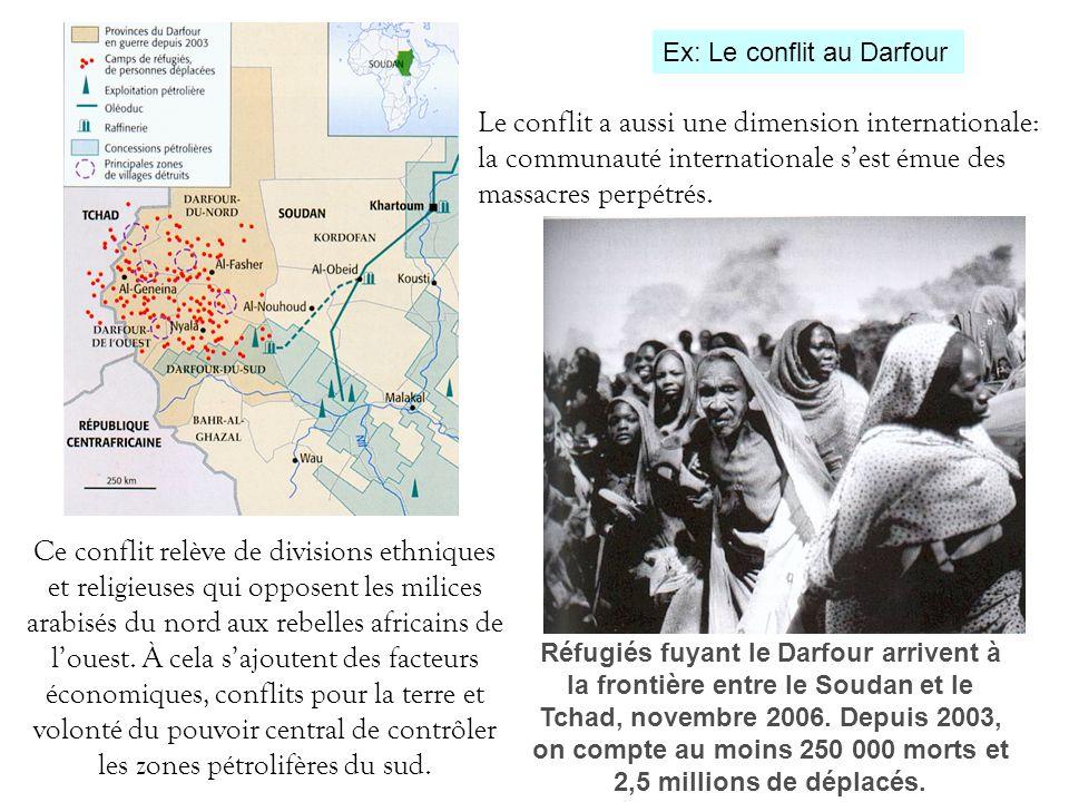 Ex: Le conflit au Darfour
