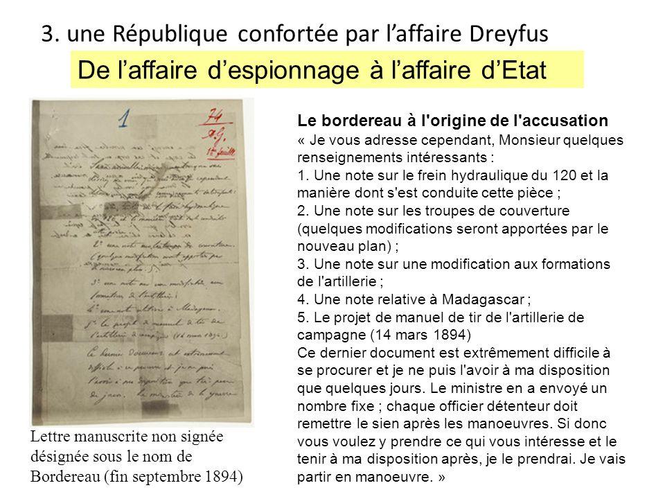 3. une République confortée par l'affaire Dreyfus