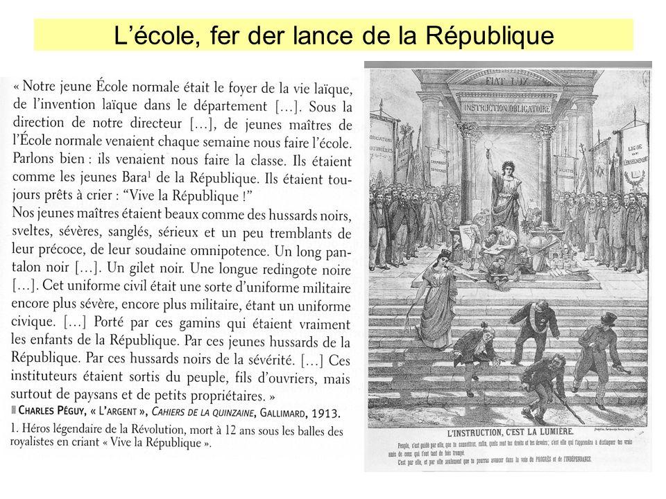 L'école, fer der lance de la République